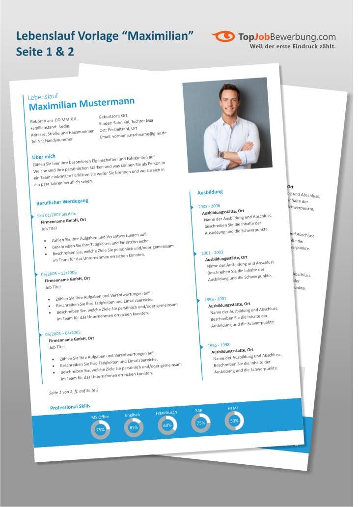 Lebenslauf Muster Vorlagen 2018 Für Erfolgreiche Bewerbungen
