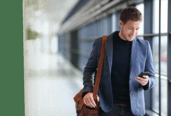 Handy Nachricht mit Einladung zum Vorstellungsgespräch