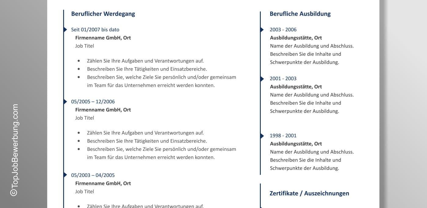 Lebenslauf Vorlage Anton Detailansicht
