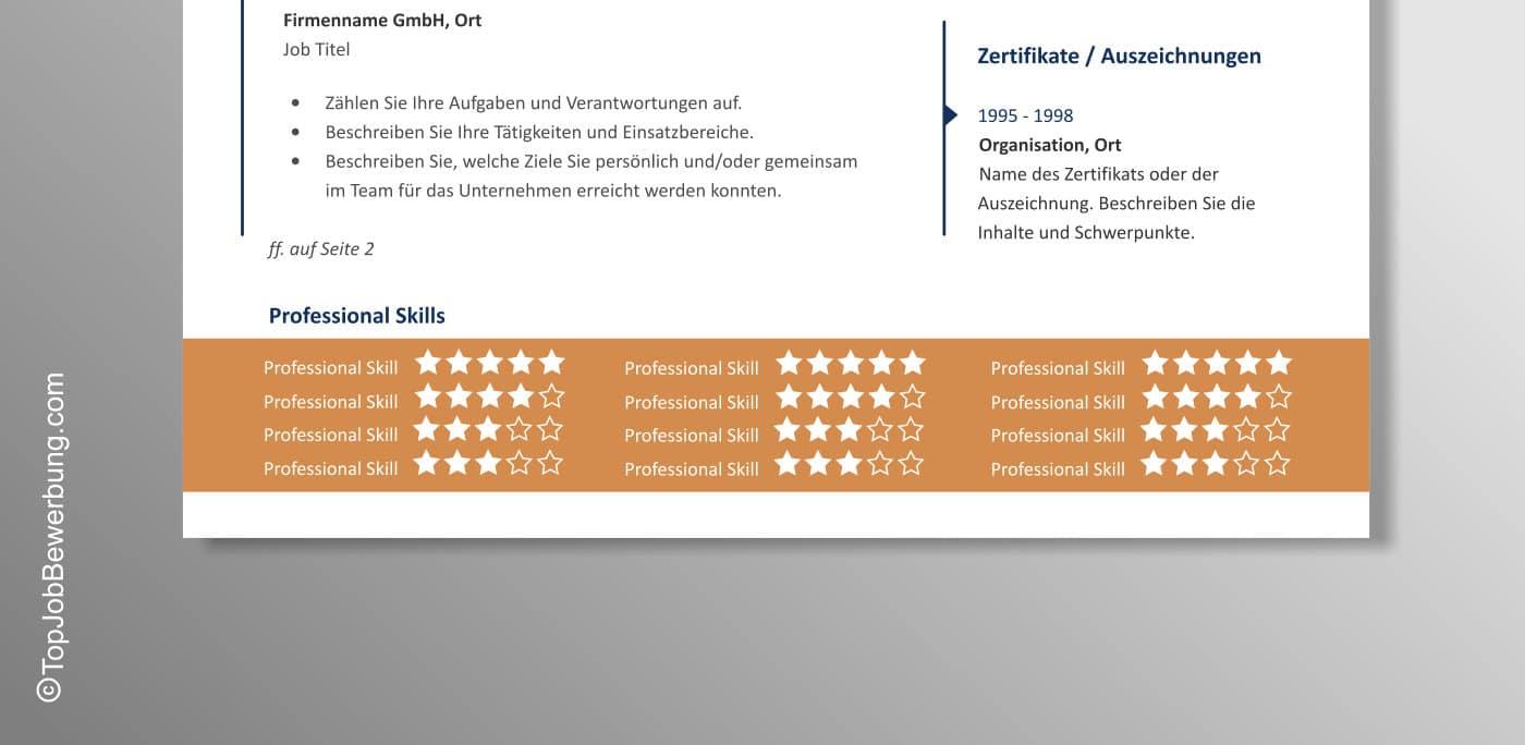 Lebenslauf Vorlage Anton Professional Skills